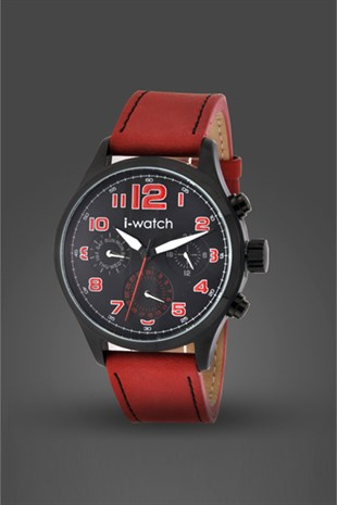 İ-Watch Genuıne Leather-Erkek Kol Saati- 5006.C5